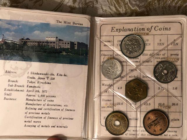 Colección monedas japonesas 1976