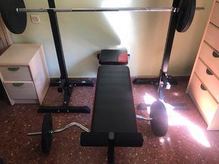 Conjunto pesas musculación