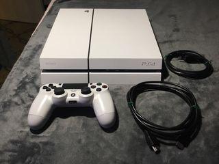 PLAYSTATION PS4 500 GB BLANCA + MANDO IMPECABLE !!