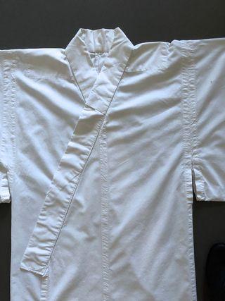 Kimono blanc en coton ou yukata T. L Unisexe