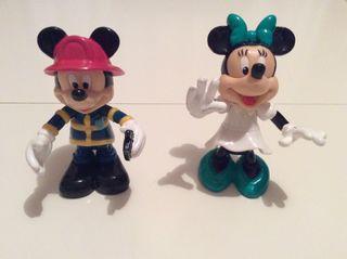Lote figuras Mickey y Minnie