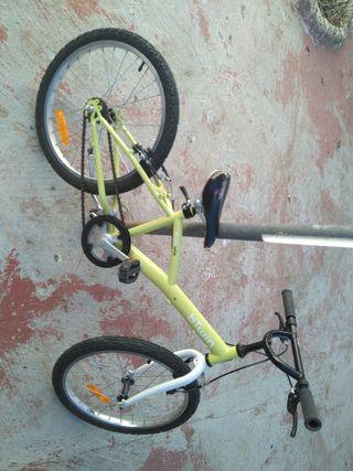 bici del decathlon de 20pulgadas de ruedas