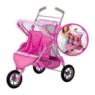 carrito gemelar muñecas baby born