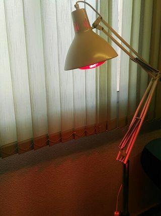 Lampara infrarojos de calor