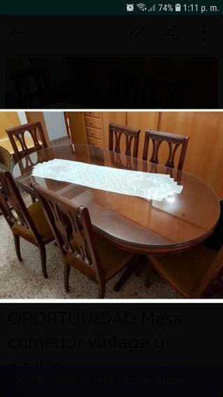 Mesa comedor vintage de segunda mano en la provincia de Alicante en ...