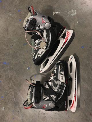 patines de patinaje sobre hielo