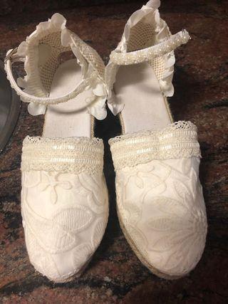 ac96cb8d Zapatos de novia de esparto de segunda mano en WALLAPOP