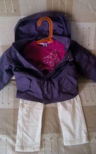 conjunto 3 prendas niña 18 meses
