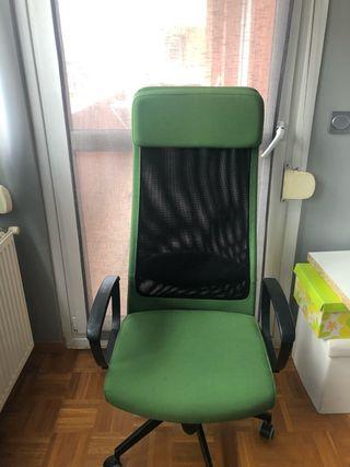 Silla oficina verde
