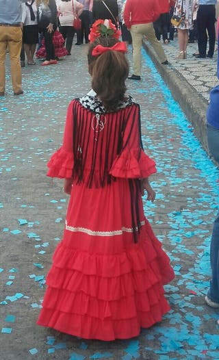 Traje Flamenca niña talla 8