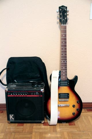 guitarra eléctrica tipo les paul.