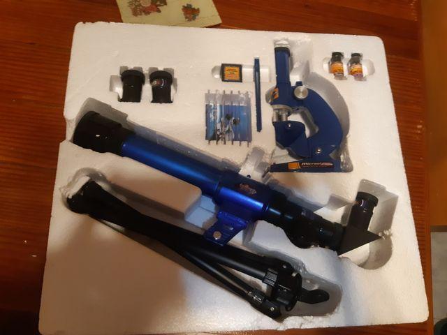 Telescopio y microscopio juguete