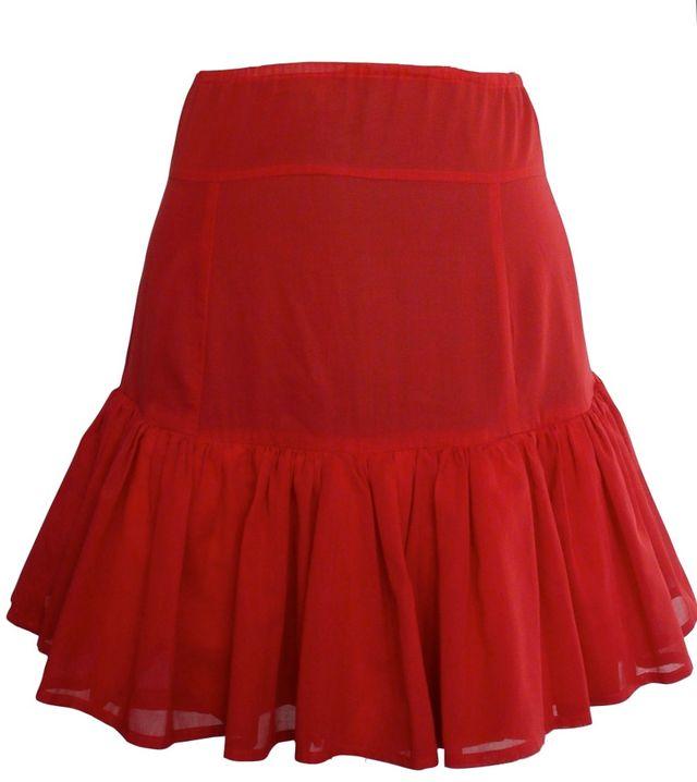 jupe rouge Jean-Marc SINAN T.34 Vintage 80's