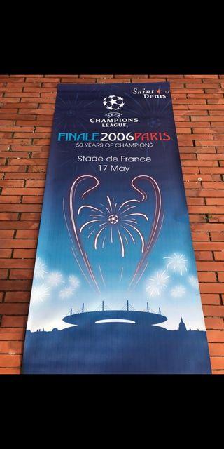 Lona original Final Champions Barça 2006 en Paris
