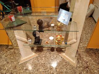 recibidor cristal y marmol
