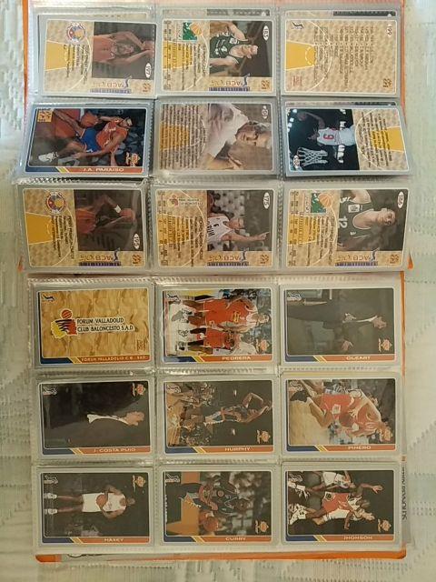 album cromos baloncesto ACB - NBA