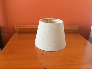 2 Pantallas lámpara beig