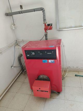 Radiadores, caldera y depósito de gas-oil