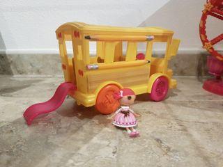 autobús de lalaloopsy con muñeca