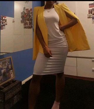 New Womens Sleeveless White Bodycon Midi Dress