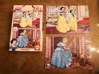 puzzle de blancanieves y cenicienta