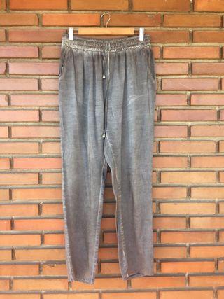 Pantalon metalizado L