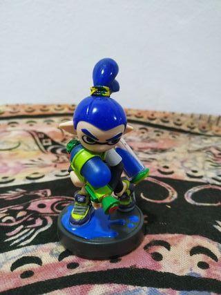 Amiibo Splatoon Inkling Azul
