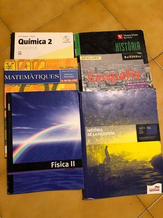Libros de texto 2o de Bachillerato