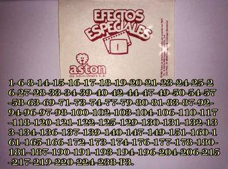 Cromos ORIGINALES de Efectos Especiales 1988.