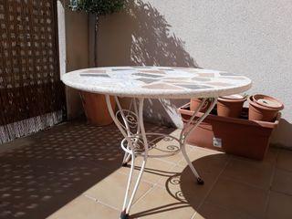 mesa jardín de mármol