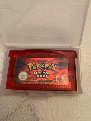 Nintendo game boy advance pokemon rubí