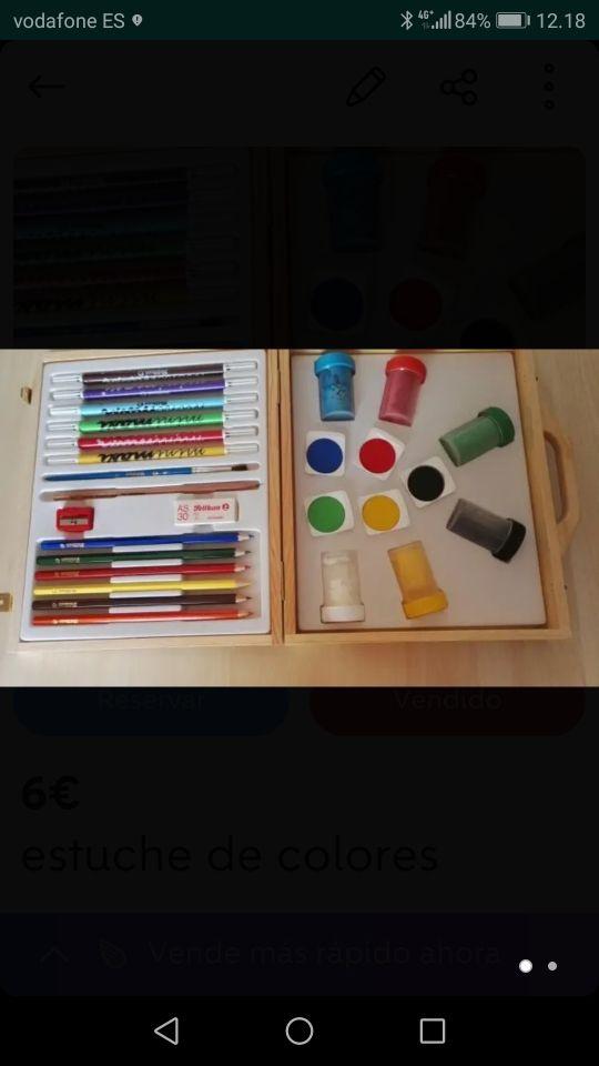 estuche de colores