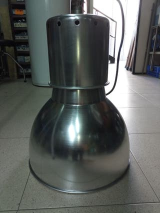 lampara de techo tipo campana de aluminio