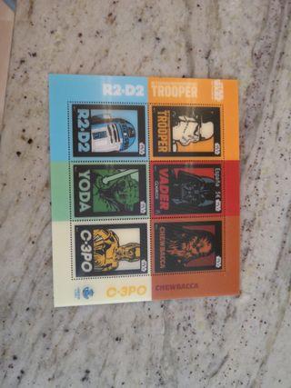 sellos starwars edición limitada