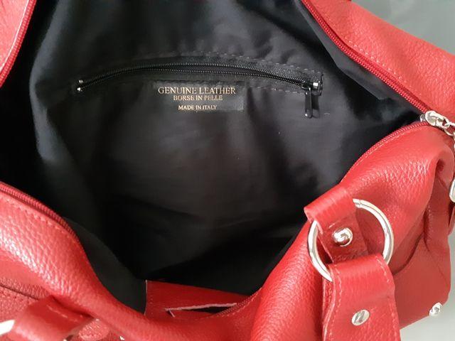 bolso Genuine Leather rojo