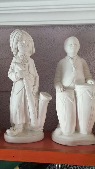 figuras de escayola y alabastro