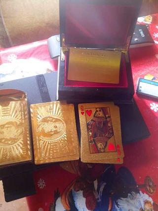 cartas chapado oro