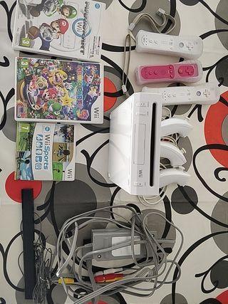 Pack wii +3 mandos +3 juegos
