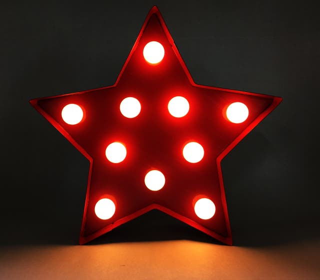 Cartel luminoso estrella roja