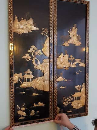 Diptico de Nácar estilo oriental