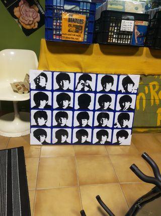 Cuadro de los Beatles. The beatles