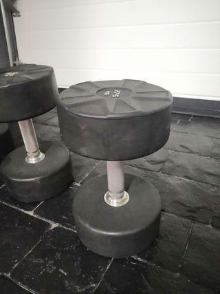 mancuernas 40 kg 30 kg 27,5 kg