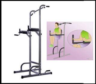 Torre abdominal o para dominadas, musculacion