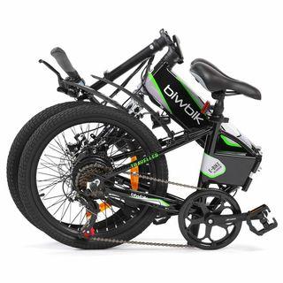 Bicicleta eléctrica plegable Biwbik Negra