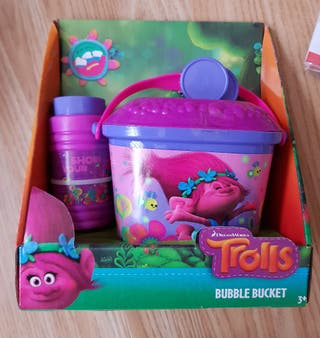 brand new trolls bubble bucket