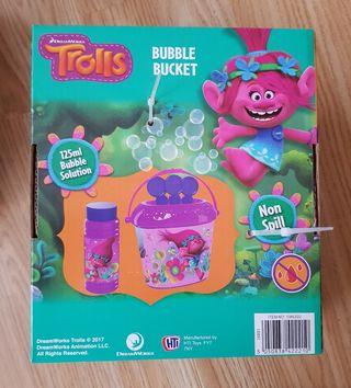 brand new trolls bubble bucket