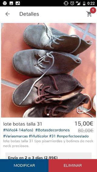 lote zapatos talla 31