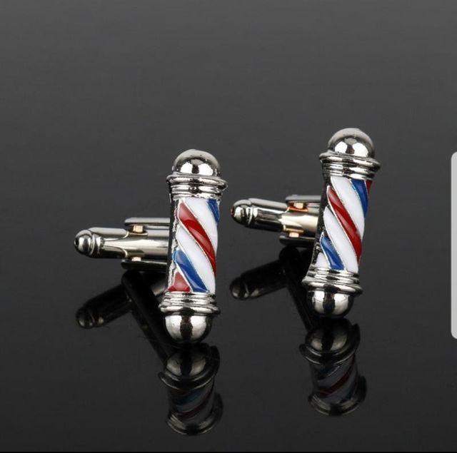 fd993500e Gemelos barber pole peluqueria barbería de segunda mano por 24 € en ...