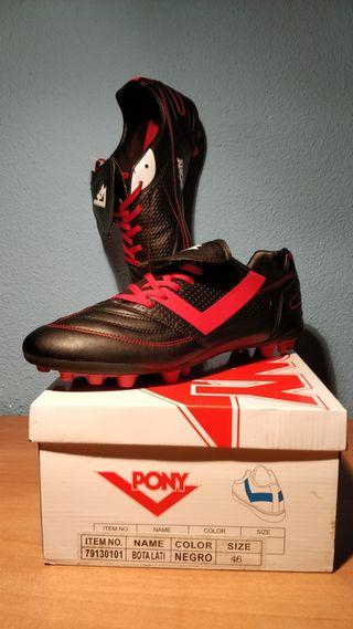 Botas de fútbol marca Pony nuevas. Talla 46