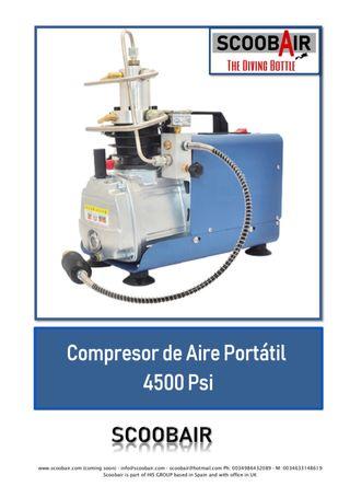 Compresor de aire portátil 4500psi